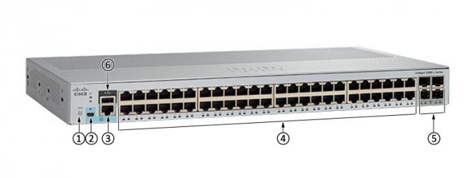 Multi catalizador 2960 litro série WS-C2960L-48TS-AP de Cisco do interruptor dos ethernet da camada 2 do porto