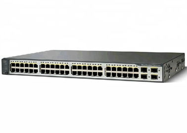 48 interruptor original controlado WS-C3750V2-48TS-S de Cisco da camada 3 do interruptor de Gigabit Ethernet do porto